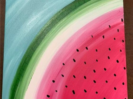 Watermelon Canvas Painting - July 12th