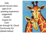 Kids Community ed advanced canvas-Giraffes