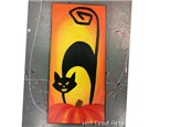 Black Cat Board Painting