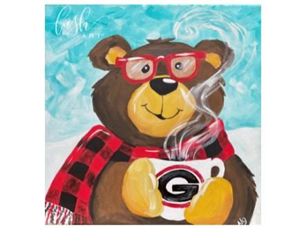 Christmas Mug Bear Paint Class - WR