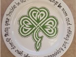Adult Pottery - Celtic Shamrock Plate - 03.10.19
