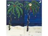Palmetto Christmas - choice colors  (10x20 canvas)