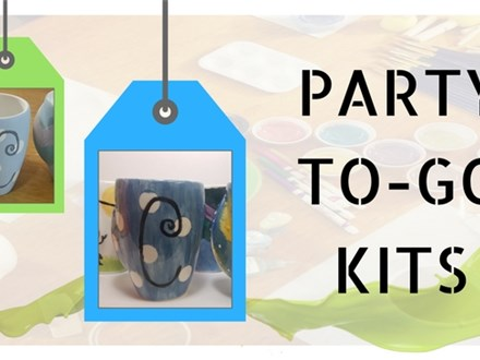 To-Go Party Kit: Pottery or Glass Painting