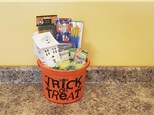 Haunted House Halloween Gift Bucket - Rocky Mountain Chocolate Apple Of Your Choice Included!