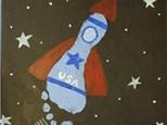 Kid's Canvas - Rocket Footprint - Afternoon Session - 07.11.19