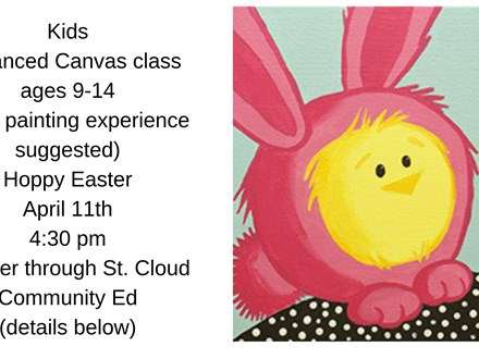 Kids Advanced Canvas Class-Bunny Chick