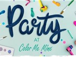 Party at Color Me Mine - Private Studio Package