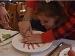 Santa's Secret Visit ... turning Color Me Mine into his handprint plate workshop!