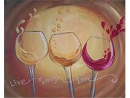 7/18 Wine Glass Paint & Sip Night- PRIVATE GROUP (Yajahira Friends Group)