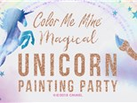 MAGICAL UNICORN BIRTHDAY PARTY AT COLOR ME MINE - UPTO 10 KIDS