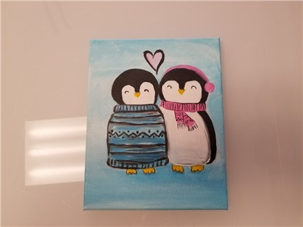 Love Birds Mommy & Me Canvas Class (age 4 and up) $40
