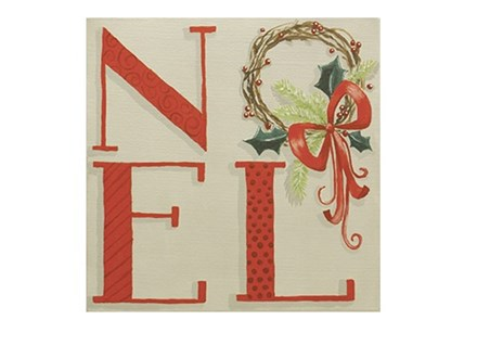Noel Wreath Canvas and Cocktails
