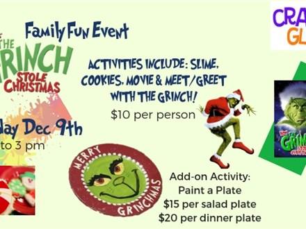 Ticket to Crazy Glaze's Merry Grinchmas! Sunday December 9th