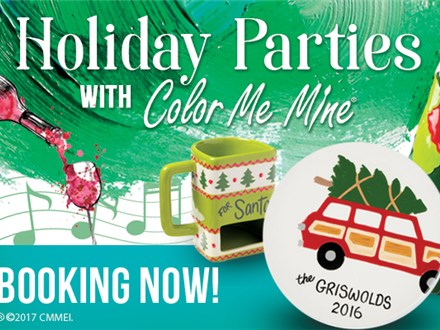 Book your Private Holiday Party at Color Me Mine - Edison, NJ