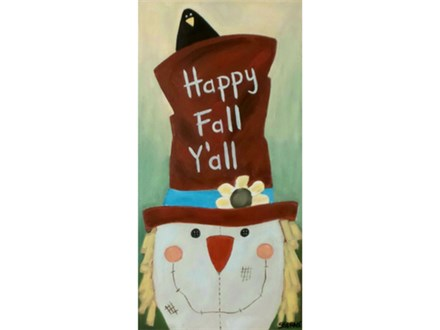 Scarecrow - add any message to the hat (10x20 canvas)
