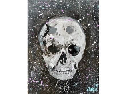 Mixed Media Skull Paint Class - PERRY