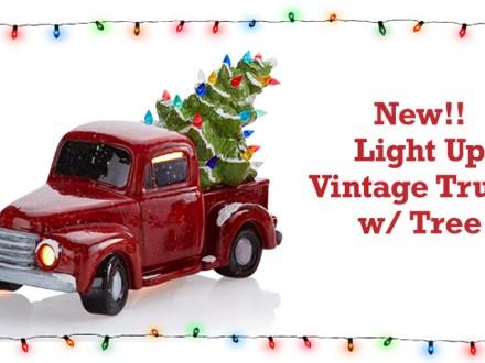 Vintage Light Up Truck w/ tree - Nov. 23rd