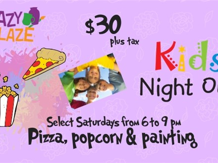 Tickets for 2019 Kids Night Out Events