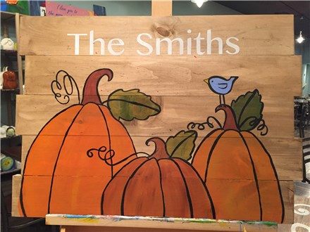 Pumpkin Board Art Night! Saturday, November 12th 6-9p