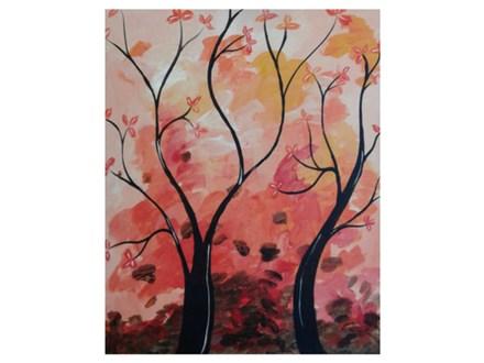 Autumn Twisted Trees - Paint & Sip - Nov 9