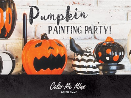 Oct 28th • Pumpkin Painting Party • Color Me Mine Aurora