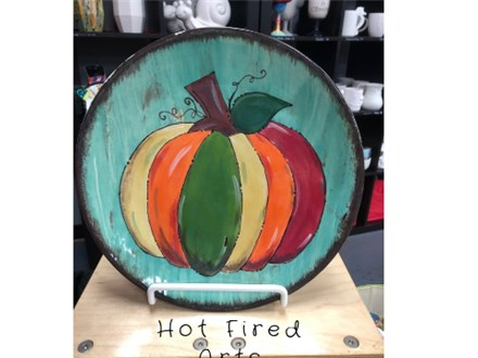 Pottery Painting: Colorful Pumpkin