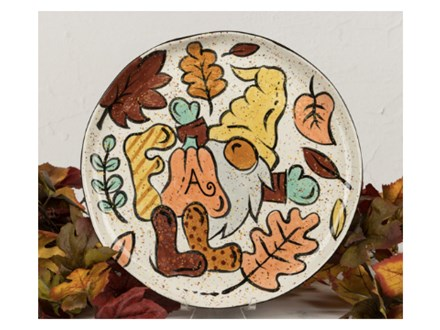 Pottery Painting: Fall Gnome Plate