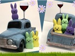 Vintage Truck w Peeps Painting at Monroeville Winery - April 3rd