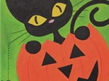 """Canvas & Cones """"Pumpkin Cat"""""""