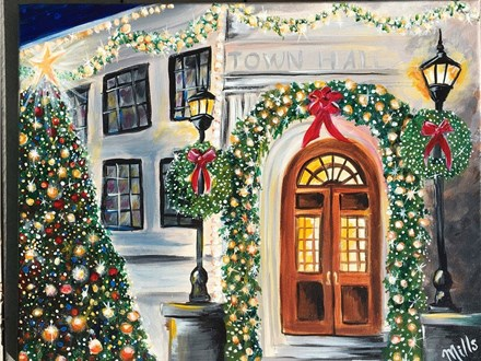 """Canvas Night """"Town Hall"""" Saturday, December 17th 7-10pm"""