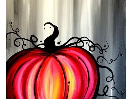 Canvas Painting: Pumpkin - October 21st, 2017