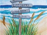 Adult Canvas Night July 9th Beach This Way