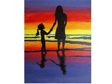 Canvas & Wine Night! Mother & Child Silhouette! 11/3/17