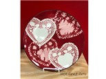 Pottery Painting: Doily Heart Plate