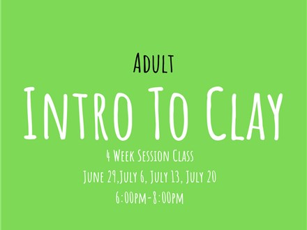 Adults Intro to Clay