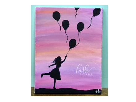 Balloon Girl Paint Class @ Just Tap'd