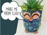 Kid's Night Out: Clay Owl Planters