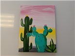 Golden Hour in the Desert Adult Canvas Class $35