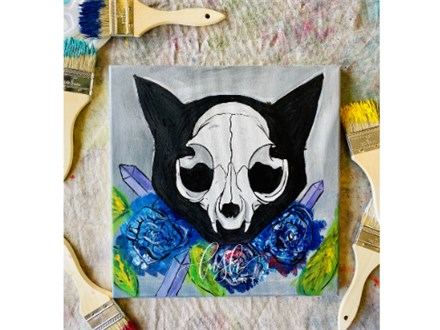 Cat Skull Paint Class