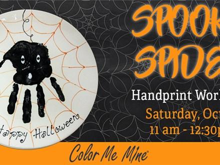 Spooky Spider Handprint Plate Workshop - October 3