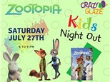 Ticket for Crazy Glaze Studio's Kids Night Out July 27th