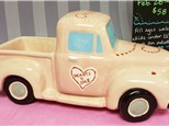 Vintage Pick-up Truck: Hearts-4-Sale