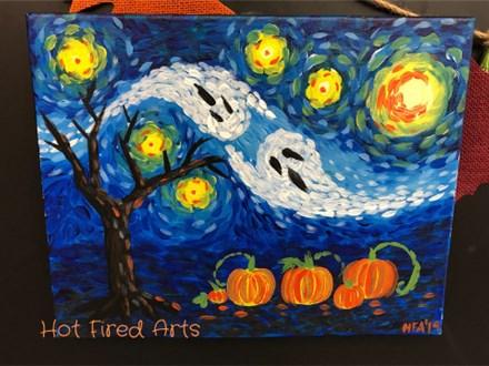 Paint N' Sip: Starry Halloween Night