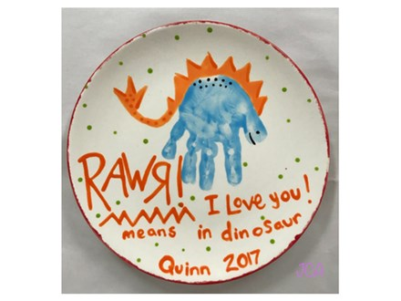 Mommy/Daddy & Me - Dino Plate 09/05