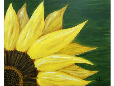 Sunflower - green background 16x20
