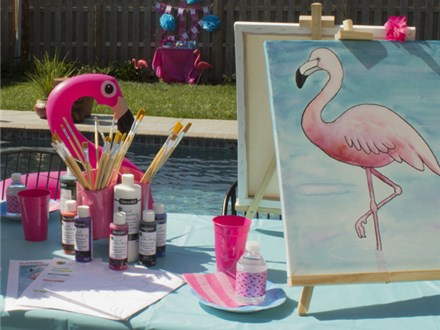Adult Canvas - Flamingo - Morning Session - 03.01.19