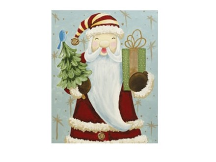 Father Christmas - Canvas - Paint and Sip