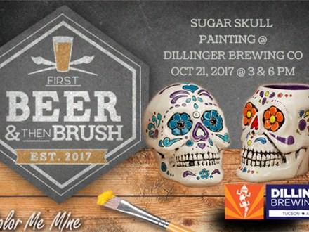 Sugar Skull Painting @ Dillinger Brewing Co: October 21, 2017 @ 6pm