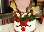 Toddler/Parent Sweet Reads Red Nosed Reindeer Mini Cake Class