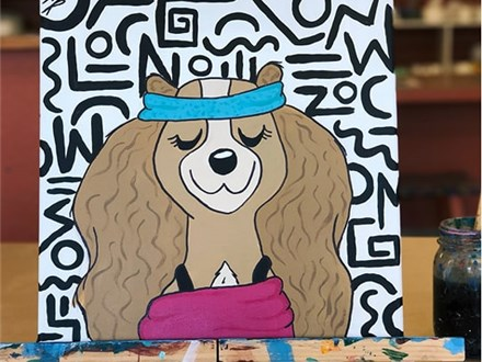 Family Canvas - Olivia the 80s Aerobics Pup - 03.17.19